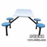 B010 圆凳四人整体玻璃钢餐桌椅