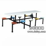 B031八人圆凳镀鉻支架玻璃钢餐桌椅