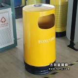 A16小区室外玻璃钢垃圾桶 街道单桶垃圾桶