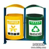 A25环保分类玻璃钢垃圾桶 户外双桶垃圾桶