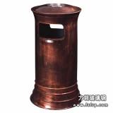 A44仿古铜室内玻璃钢垃圾桶 小区环保垃圾桶
