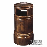 A45玻璃钢仿铜室内垃圾桶 酒店环保垃圾桶