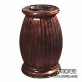 A48室内环保玻璃钢垃圾桶 仿铜单桶垃圾桶
