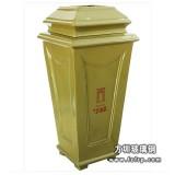 A77翡丽郡玻璃钢单桶垃圾桶 室外单桶垃圾桶