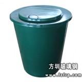 A78玻璃钢翻盖单桶垃圾桶  小区户外翻盖垃圾桶