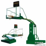 A001电动液压折叠篮球架