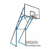 A017蓝色75管固定篮球架