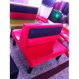 KZ-011 红色双排双人位玻璃钢卡座