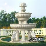 HP187公园大型装饰喷泉花盆设计 玻璃钢动物砂岩喷泉雕塑生产厂家价格优惠