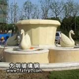 HP186玻璃钢动物喷泉雕塑 广场大型喷泉花盆喷泉鱼池设计