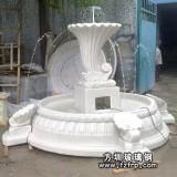 HP184玻璃钢砂岩喷泉花盆设计 小区玻璃钢装设喷泉雕塑生产