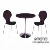B062玻璃钢二人曲木餐桌椅