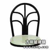 B082圆形不锈钢复古靠背凳面  玻璃钢凳面