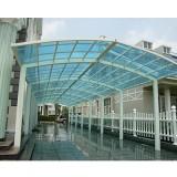 阳光板雨棚_钢结构阳光板雨棚厂家定做