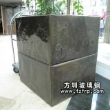 HP011玻璃钢方形户外花盆批发 广场摆设方形花盆图片 树脂花盆定做