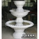 HP167白色玻璃钢欧式花盆喷泉