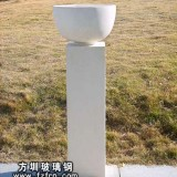 HP161玻璃钢白色室外花盆生产