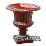 HP146红色玻璃钢欧式复古花盆