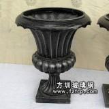 HP144欧式玻璃钢仿铜花盆
