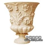 HP119玻璃钢欧式砂岩花盆 欧式艺术花瓶定做