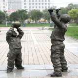 YD-007校园铸铜雕塑 校园文化青铜雕塑定做