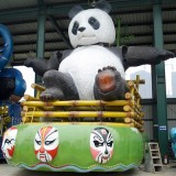 YD-020玻璃钢大型雕塑 游乐园大熊猫动物雕塑