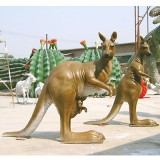 YD-033玻璃钢公园动物雕塑 景区仿真动物雕塑装饰