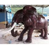 YD-037仿锻铜雕塑 玻璃钢大象雕塑造型定做