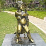 YD-040公园装饰锻铜雕塑 玻璃钢仿铜雕塑