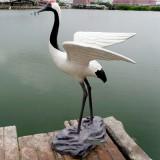 城市雕塑仿真仙鹤雕塑 动物雕塑