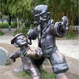 YD-047仿铸铜雕塑 学校雕塑定做生产 学校浮雕设计
