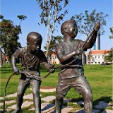 YD-048学校雕塑铸铜雕塑 玻璃钢仿锻铜雕塑文化背景墙