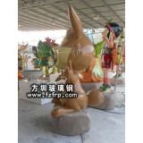 GZ-008兔子动物雕塑设计定做