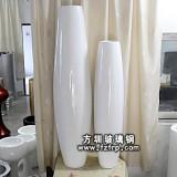HP110白色室内玻璃钢观赏花盆
