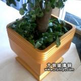 HP109室内金色大气玻璃钢盆景花盆
