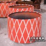HP106红色户外玻璃钢花盆—盆景花盆批发厂家
