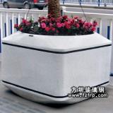 HP016仿麻石玻璃钢花盆定做 街道盆景花盆深圳花盆批发