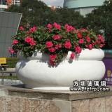 HP102玻璃钢白色室外观赏花盆
