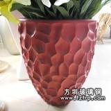 HP096红色高级玻璃钢室内盆景花盆