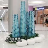 HP090玻璃钢室内装饰花瓶定做 步行街艺术花瓶价格