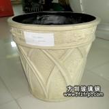 HP084玻璃钢树脂花盆批发定做—景观花盆