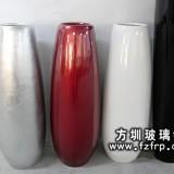 HP079玻璃钢室内装饰花瓶柱子 亮光曲线花瓶价格