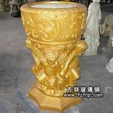 HP078玻璃钢人物雕塑欧式花盆批发