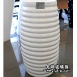 HP073玻璃钢室内装饰花瓶柱子 波浪纹家居花瓶价格