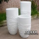 HP070玻璃钢雕刻花纹装饰花瓶 艺术花瓶定做