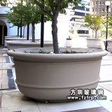 HP065小区圆形景观花盆—大型玻璃钢花盆