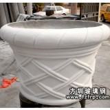 HP064玻璃钢欧式仿砂岩花盆 圆形大花盆