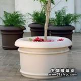 HP058简约式大型植物花盆—圆形玻璃钢花盆