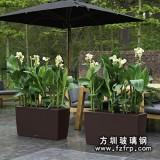 HP007长方形玻璃钢花盆批发 高档盆景花盆出售 树脂花盆生产定做