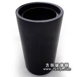 HP052黑色圆形玻璃钢室内花盆